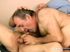 chubby and curly dad fuck his older allies ass
