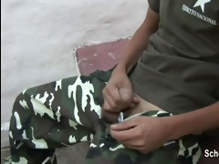 juvenile soldier caught jacking