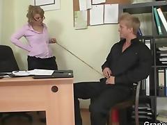 office slut enjoys riding his dong