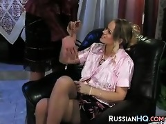 hirsute woman fingered by a younger girl