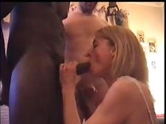 husband films gorgeous white wife sucking a