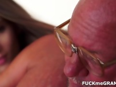old man receives a young oral job
