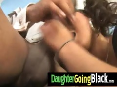 watch my daughter taking a hard black dong 14