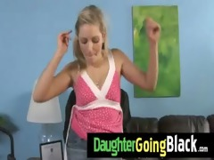 watch my daughter taking a hard black wang 16