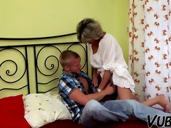 young boy fucks older lady in bedroom !!