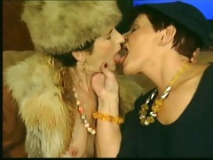 horny old ladies take up with the tongue and kiss