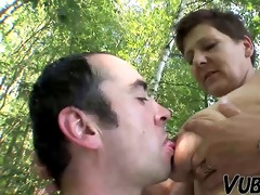 aged pair outdoor sex !!