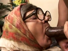 granny gobbles cock and gets fucked!