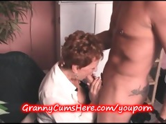 old granny gets some young dong