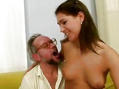 grandpa enjoying nasty sex with hot legal age