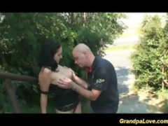 grandad fucking a nice brunette sweetheart and