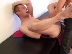 cumhungry gap breeded by well hung leather dad