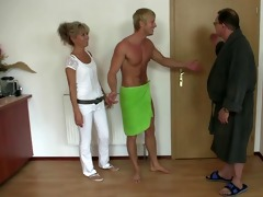 his old mom and daddy tricks her into sex