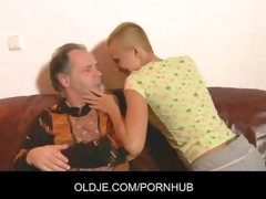 hawt short haired blonde tease and fuck older lad