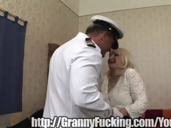 grandmother dances for sailor