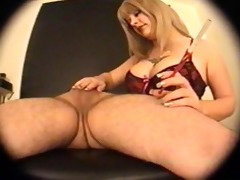 blonde smokin handjob