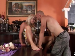 badass grandma anett drilled hard by juvenile dude