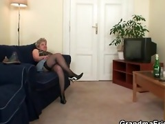 sexually excited granny takes cocks at once